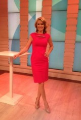 Charlotte Hawkins…stunning in a red dress!