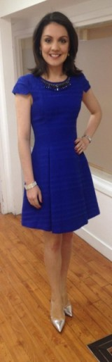 Pretty blue dress from Zara that a pretty Laura Tobin has on!