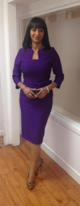 Really like this combo Ranvir Singh has on!#DivaCatwalkpurpledress #DuneLondon leopardprintshoes