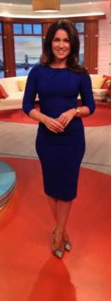 Susanna Reid looking beautiful in a blue Diva Catwalk dress