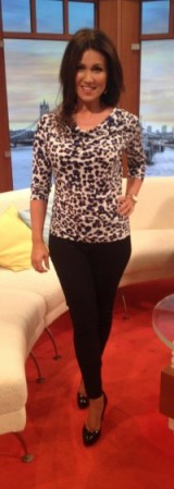 Susanna Reid letting her leopard site out! #AustinReed