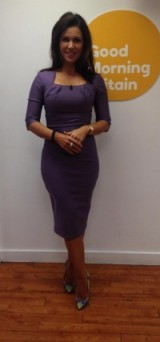 ? Susanna Reid in a pastel purple dress from Diva Catwalk #amazing ?