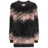 DRIES VAN NOTEN Faux fur sweater. Luxury sweaters | luxe style jumpers | fluffy tops | designer fashion