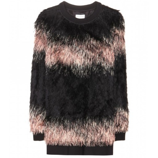 DRIES VAN NOTEN Faux fur sweater. Luxury sweaters   luxe style jumpers   fluffy tops   designer fashion - flipped