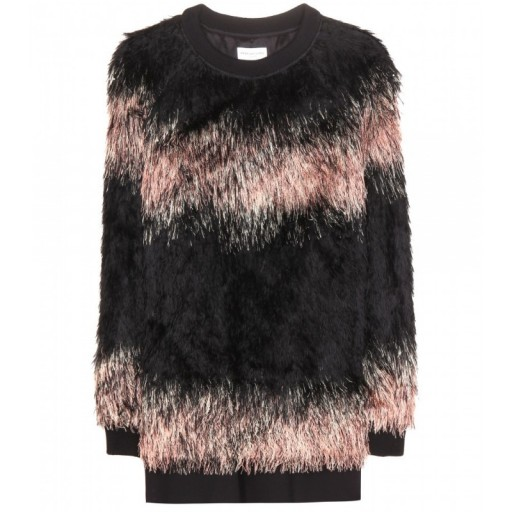 DRIES VAN NOTEN Faux fur sweater. Luxury sweaters   luxe style jumpers   fluffy tops   designer fashion