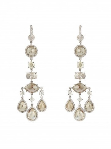 NSR NINA RUNSDORF Diamond & white-gold earrings – statement jewellery – luxury jewelry – occasion drop earrings - flipped