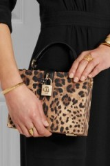 DOLCE & GABBANA Dolce small leopard-print textured-leather shoulder bag. Animal prints – glamorous box bags – glamour – luxury handbags – designer accessories