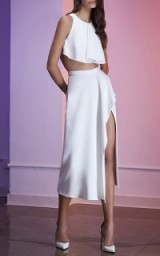CUSHNIE ET OCHS Draped Stretch Cady Skirt
