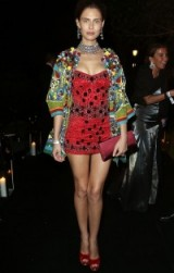 Italian model Bianca Balti wearing Dolce & Gabbana embellished mini dress & jacket at Cannes 2013