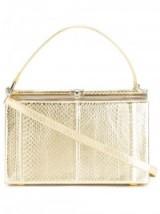 DSQUARED2 metallic tote – designer handbags – gold metallics