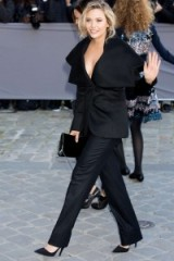 Elizabeth Olsen at Dior S/S 2016 PFW. Celebrity fashion | star style | celebrities at fashion shows | Front Row