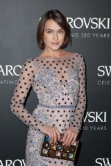 Blogger Ella Catliff attends the Swarovski 120 X Rizzoli Exhibition and Cocktail at PFW S/S 2016. Celebrity fashion | celebrities at Paris Fashion Week