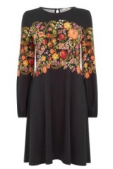 OASIS – embroidered floral print dress. flower prints / dresses