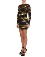 Emilio Pucci Sequined Metallic Bandage Mini Dress – designer occasion dresses