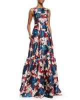 Duchess of Cambridge style…ERDEM Alouette Floral-Print Tiered Gown ~ designer gowns ~ luxury fashion