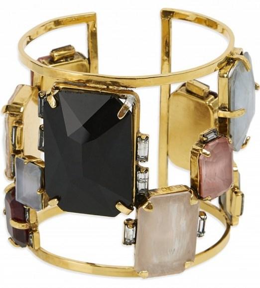 ERICKSON BEAMON Erin fetherston bracelet ~ gemstone bracelets ~ multicoloured stone cuffs ~ jewellery - flipped