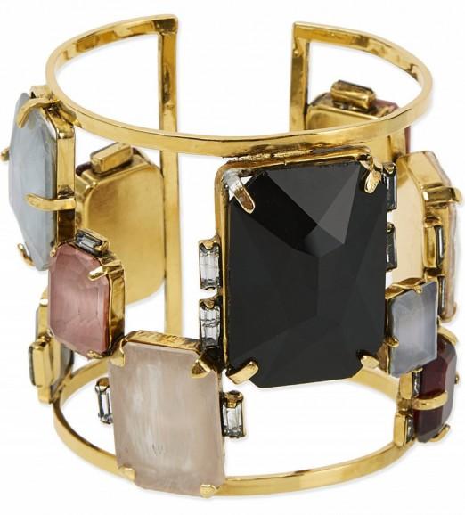 ERICKSON BEAMON Erin fetherston bracelet ~ gemstone bracelets ~ multicoloured stone cuffs ~ jewellery