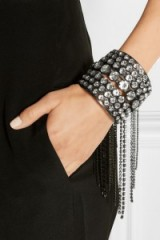 ERICKSON BEAMON Fringe Element gunmetal-tone Swarovski crystal cuff ~ Jewellery ~ cuffs ~ crystals ~ statement