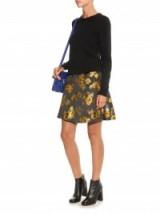 SPORTMAX CODE Eva skirt ~ metallic skirts ~ A-line style ~ floral jacquard ~ stylish