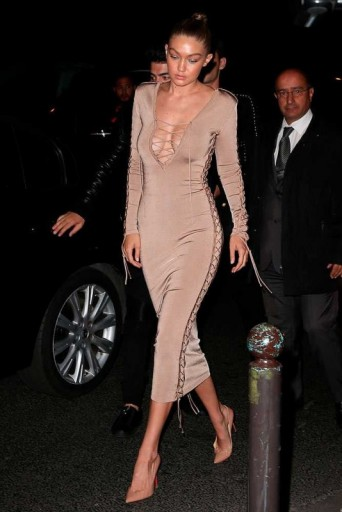 Model Gigi Hadid Arriving At The Balmain After Party During Pfw S
