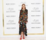 Olivia Palermo wearing Preen By Thornton Bregazzi Lambert Dress in poppy flower print available from fwrd.com. Celebrity fashion | designer dresses | star style | what celebrities wear