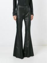 FAITH CONNEXION metallic flared trousers – metallic pants – black & silver tone metallics