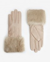 TED BAKER – JANIA Faux fur leather gloves