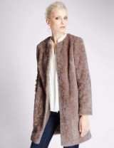 M&S – AUTOGRAPH New Faux Fur Overcoat mink. Winter coats – warm outerwear – Marks & Spencer clothing