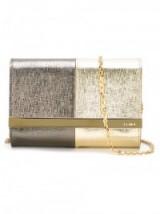 FENDI metallic clutch – metallic evening bags – bronze & gold metallics