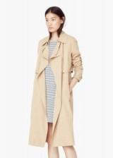 MANGO flowy trench medium brown. Autumn / winter fashion – womens classic style raincoats