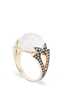 NOOR FARES Fly Me To The Moon Amore Round Cabochon Ring
