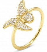 GEORG JENSEN Askill 18ct yellow-gold and pavé diamond ring ~ butterfly rings ~ fine jewellery ~ diamonds