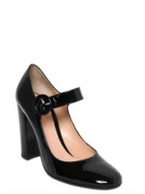 GIANVITO ROSSI 100MM MARY JANE PATENT LEATHER PUMPS. Black Mary Janes ~ designer shoes