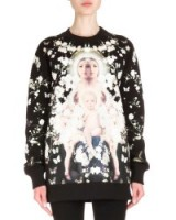 Givenchy Madonna with Baby's Breath Print Sweatshirt – as worn by Cheryl Fernandez-Versini leaving the X-Factor studios, 25 October 2015. Celebrity fashion | star style | designer printed sweatshirts | what celebrities wear | Cheryl Cole