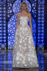 Such a pretty gown…Reem Acra bridal gown Fall 2016 – floral wedding dresses – strapless bridal gowns – designer wedding dress