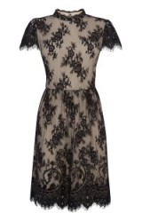 OASIS – the lace dress black. floral lace / party dresses / Gothic style fashion