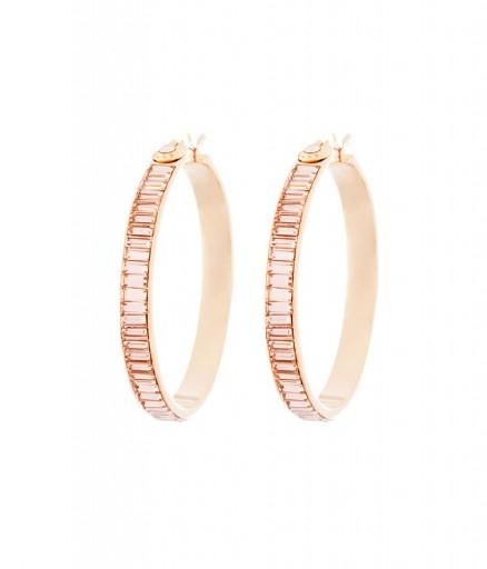 HENRI BENDEL – HARRY HOOP MEDIUM EARRINGS PINK. crystal statement earrings – luxe style jewellery