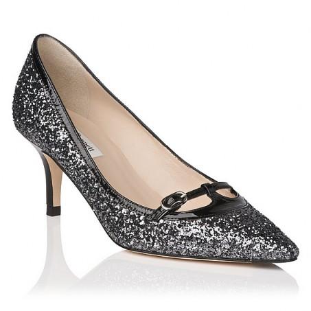 L.K. Bennett Heidi Glitter Court in silver / pewter – as ...