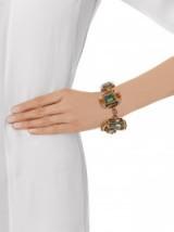 GUCCI Horsebit crystal-embellished bracelet – statemente jewellery – designer fashion jewelry – chunky bracelets – coloured Swarovski crystals