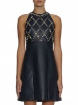ERDEM Hudson beaded leather mini dress ~ designer clothes ~ evening wear ~ occasion fashion ~ luxury embellished dresses