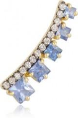 JEMMA WYNNE 18-karat gold, sapphire and diamond ear cuff. Fine jewellery | gemstone ear cuffs | sapphires and diamonds