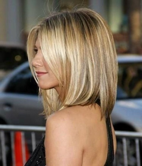 Jennifer Aniston Long Bob Celebrity Hair Hairstyles