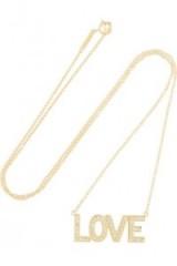 JENNIFER MEYER Love 18-karat gold diamond necklace. Fine jewellery | diamonds | delicate necklices