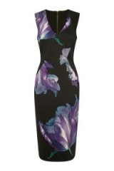 OASIS – photographic floral pencil dress. flower prints / printed dresses / john grant photographer