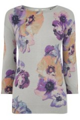 OASIS – photographic floral sparkle knit. flower prints / john grant photographer / tops / knits / knitwear
