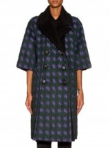ERDEM Julienne hound's-tooth brushed-jacquard coat ~ designer coats ~ luxury outerwear ~ winter fashion