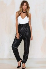 Just Female Sago leather pants. High waisted evening trousers – party fashion – going out