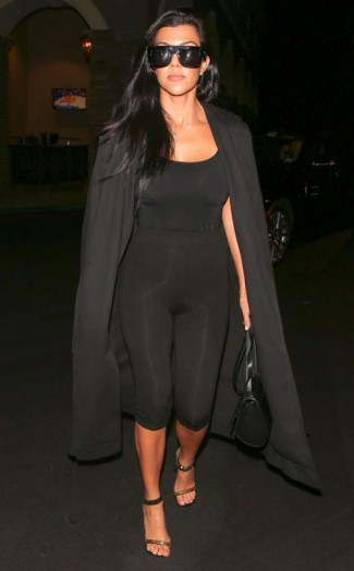 Kourtney Kardashian Looking Cool And Confident In This All Back Ou