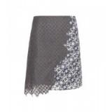 3.1 PHILLIP LIM Lace skirt ~ designer skirts – grey ~ floral ~ stylish ~ asymmetric ~ short style