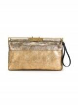 LANVIN metallic clutch – large gold clutch bags – designer handbags